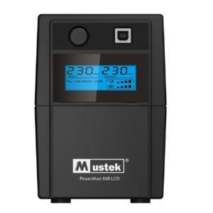"""UPS MUSTEK PowerMust 848 LCD (850VA) Line Interactive, Schuko, """"98-LIC-L0848"""" (include timbru verde 3 lei)"""