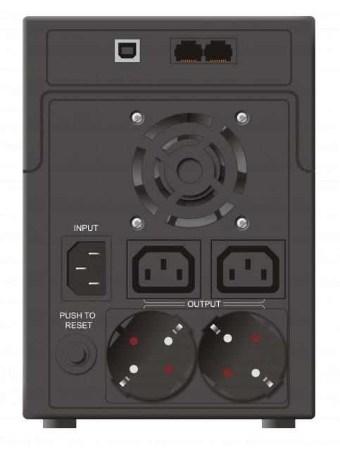 """UPS MUSTEK PowerMust 1590 (1500VA) Line Interactive, IEC/Schuko, """"98-LIC-L1590"""" (include timbru verde 3 lei)"""