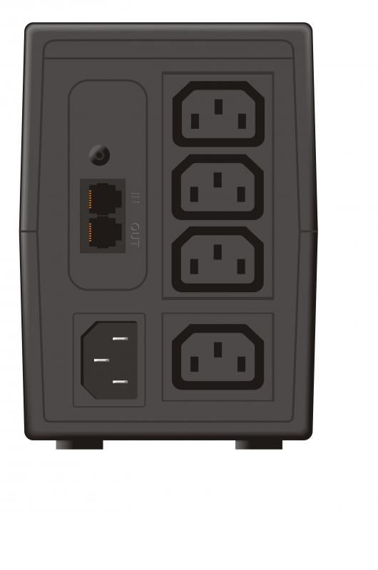 """UPS MUSTEK PowerMust 636.. (650VA) Line Interactive, IEC, """"98-LIC-N0636"""" (include timbru verde 3 lei)"""