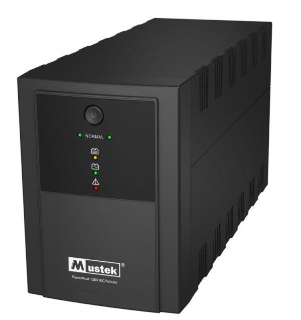 """UPS MUSTEK PowerMust 1260 (1200VA) Line Interactive, IEC/Schuko, """"98-LIC-L1060"""" (include timbru verde 3 lei)"""