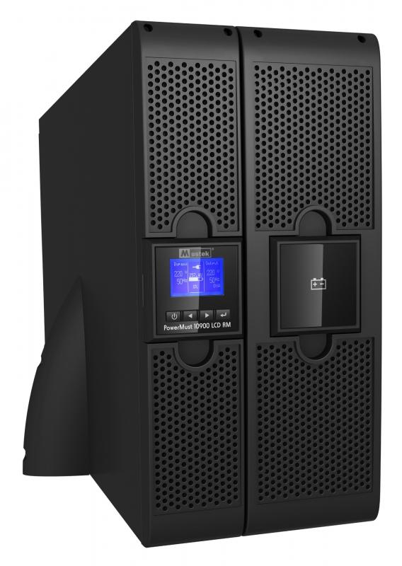"""UPS MUSTEK. PowerMust 10900 online LCD RM (10KVA), IEC, """"98-ONC-R10900"""" (include timbru verde 3 lei)"""