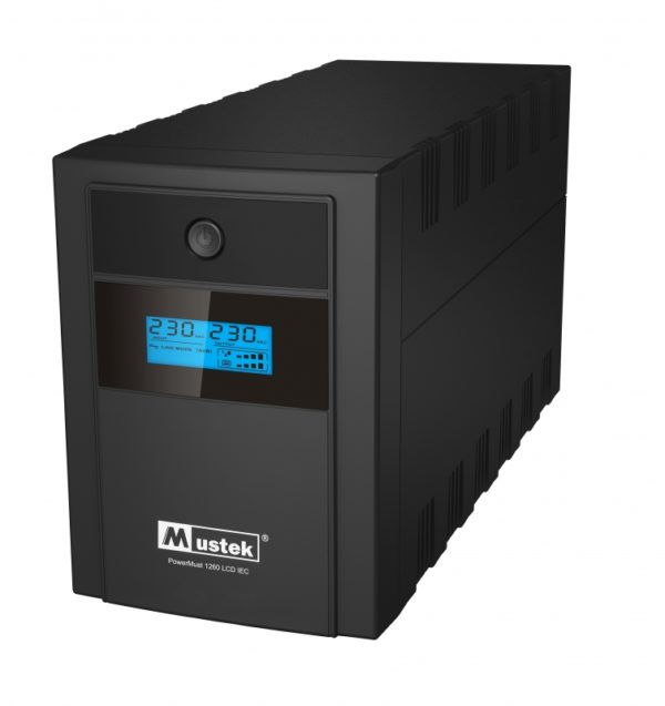 "UPS MUSTEK PowerMust 1260 LCD (1200VA) Line Interactive, IEC, ""98-LIC-C1060"" (include timbru verde 3 lei)"