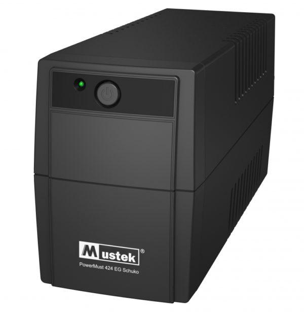 """UPS MUSTEK PowerMust 424EG (450VA) Line Interactive, Schuko, """"98-LIC-G0424"""" (include timbru verde 3 lei)"""