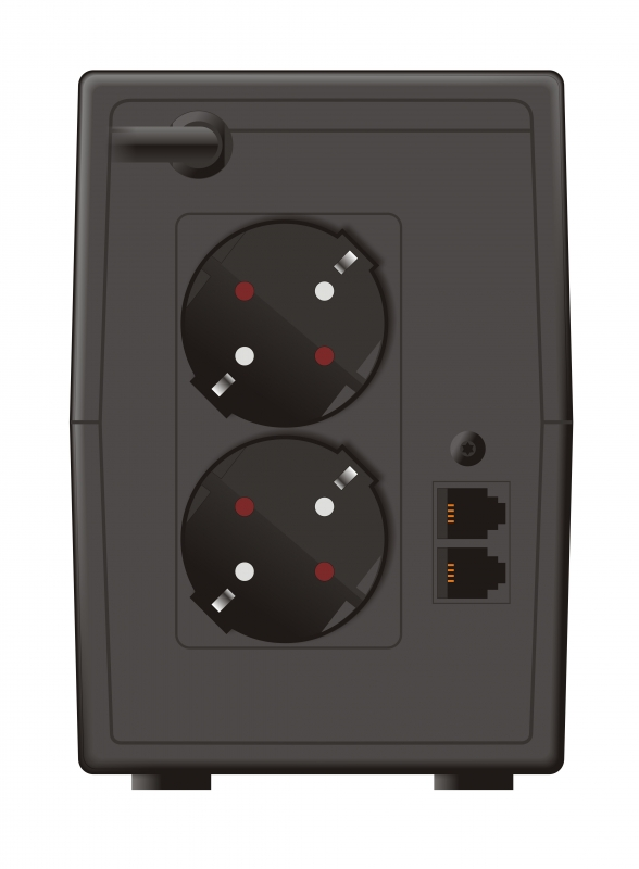 """UPS MUSTEK PowerMust 636 LCD (650VA) Line Interactive, Schuko, """"98-LIC-L0636"""" (include timbru verde 3 lei)"""