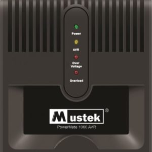 "AVR MUSTEK PowerMate 1060 (1000VA), Schuko - Voltage regulating ""98-AVR-1060"" (include timbru verde 3 lei)"