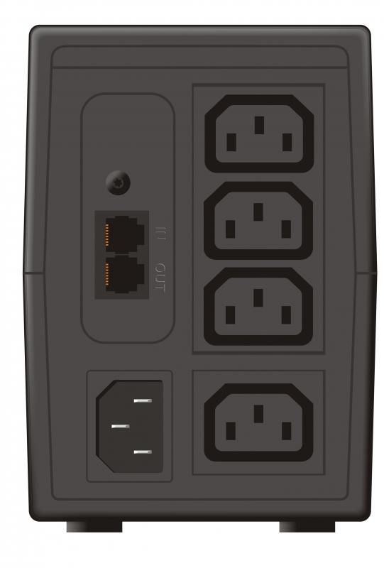 "UPS MUSTEK PowerMust 848 LCD (850VA) Line Interactive, IEC, ""98-LIC-C0848"" (include timbru verde 3 lei)"